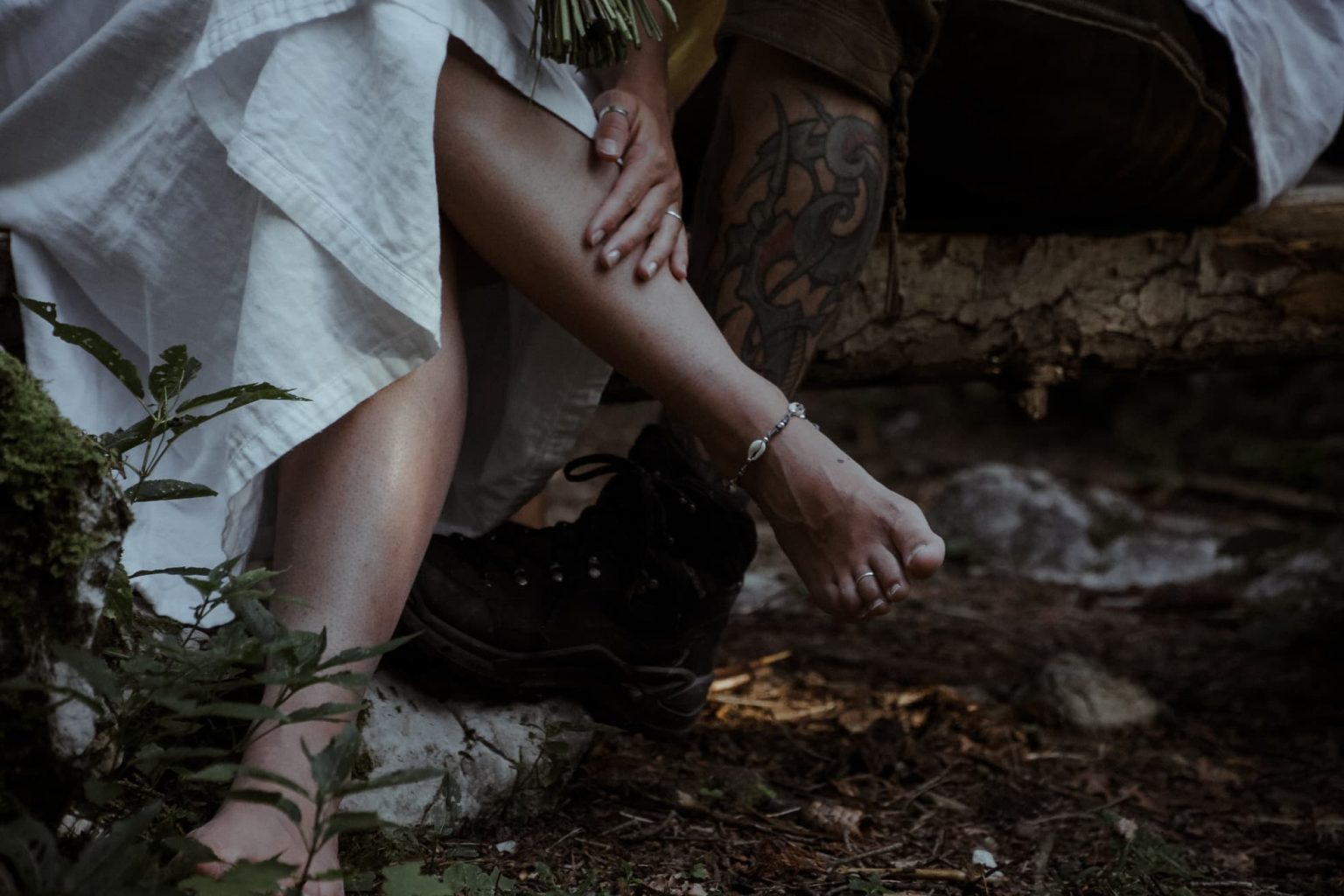 Barfuß, Tattoo, Boots, Elopement